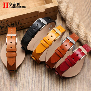 Image 4 - First layer calfskin strap for Fossil ES3616 ES3838 ES4114 womens series 18mm genuine leather watchband Quick release