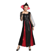 Adult Victorian Gothic Vampiress Cosplay Vampire Costume for Women Fantasia Halloween Carnival Mardi Gras Party Dress