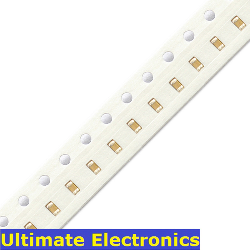 100Pcs/Lot 0402 SMD Chip Multilayer Ceramic Capacitor 0.5pF~1uF 10pF 100pF 1nF 10nF 15nF 100nF 0.1uF 1uF MLCC Chip Capacitor