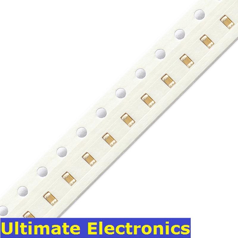 100Pcs/Lot 0402 SMD Chip Multilayer Ceramic Capacitor 0.5pF~1uF 10pF 100pF 1nF 10nF 15nF 100nF 0.1uF 1uF MLCC Chip Capacitor