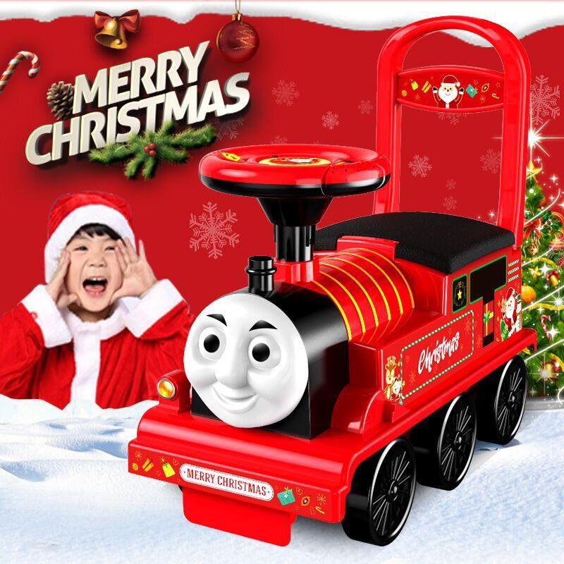 Livraison gratuite petit Train voiture électrique Rail enfant bébé marcheur peut s'asseoir poussette jouet voiture garçons jouet monter dans le Train - 2