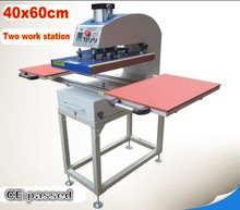 Large size pneumatic two work station heat press machine sublimation heat transfer T-shirt printing machine 60x40cm цена и фото