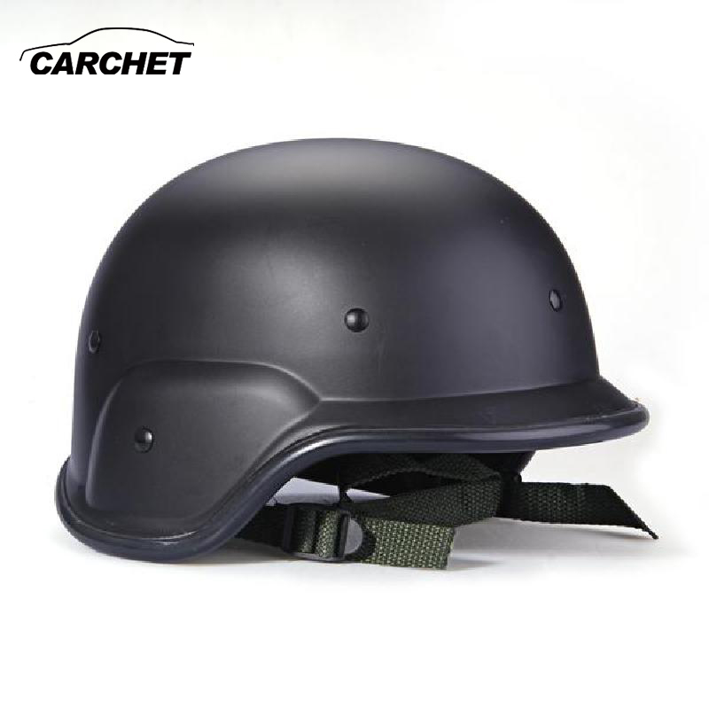CARCHET Army Military Helmet Tactical Gear Airsoft Paintball SWAT Protective Helmet Blac ...