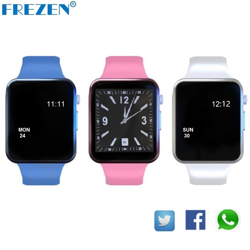 ФОТО FREZEN G11 Smart Watch Bluetooth Pink Fitness Wristwatch For Women Gift reloj con Sim Card Android Inteligente Smartwatch