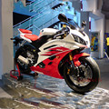 1/18 Yamaha 2008 YZF-R6 Red White Diecast Motobike Model with Removable Base toy Kids brinquedo New Year Gift Collection Gifts