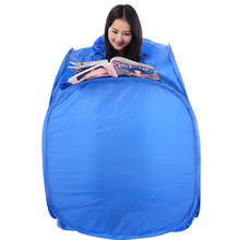 Steam-Sauna-Box with Three-Steam for Two-Fumigation-Barrel Blue-Color Folding Body-Only