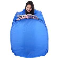 สีฟ้าสีแบบพกพาพับกล่องอบไอน้ำSauneกรณีเท่านั้นครอบครัวสามไอน้ำซาวน่า2 Fumigation Barrel