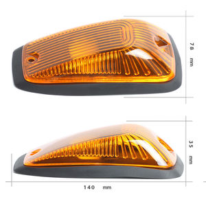 Image 3 - KEYECU 5pcs Cab Roof Running Marker light Amber Cover For 1988 2002 Chevy GMC Direct Replacement for fast feet or curved roofs