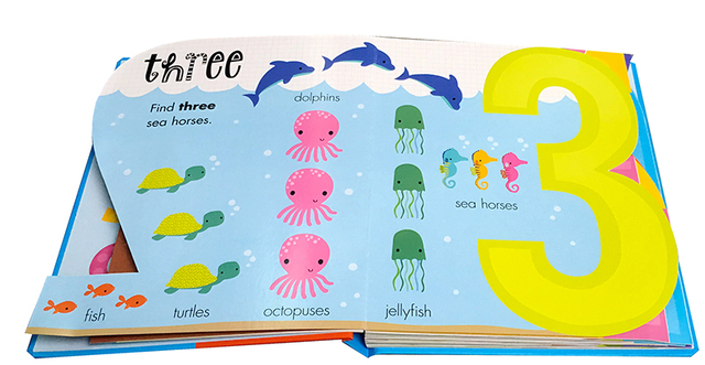 My Awesome Counting Book English board Books Baby kids math learning educational book with number shaped pages 1