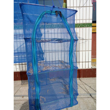 40 x 40 x 65cm 4 Layers Drying Net Fish Net Drying Rack Folding Hanging Vegetable Fish Dishes Dryer Net PE Hanger Fishing Net