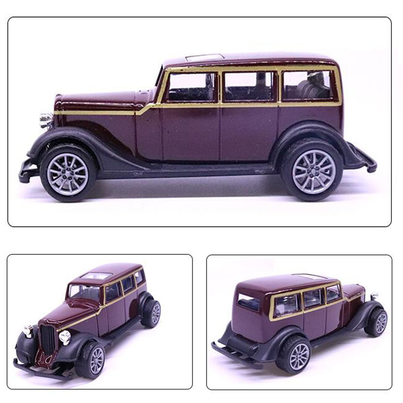 10.5CM Purple color <font><b>1:43</b></font> Scale Toy Car Metal Alloy Pull Back Diecast Classical Car Vehicles <font><b>Model</b></font> Children Kids Collection Toys image