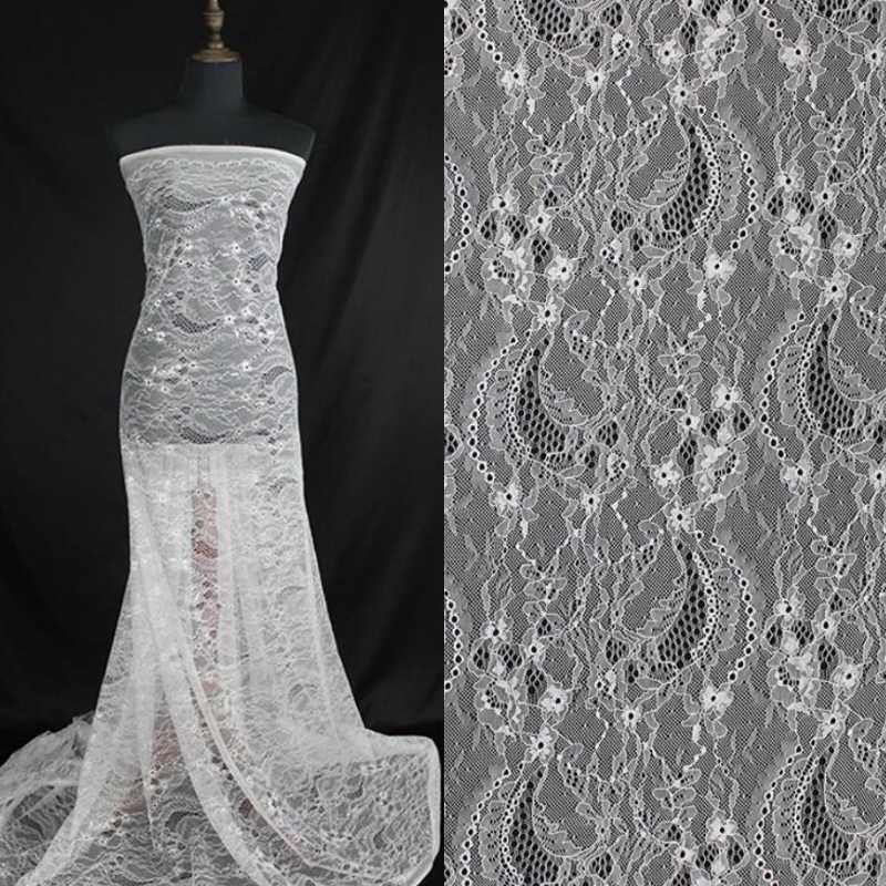 10 metros 150 cm Off Grande garoto vestido África Rússia estilo do vestido de casamento vestido bordado francês tecido de renda Chantilly