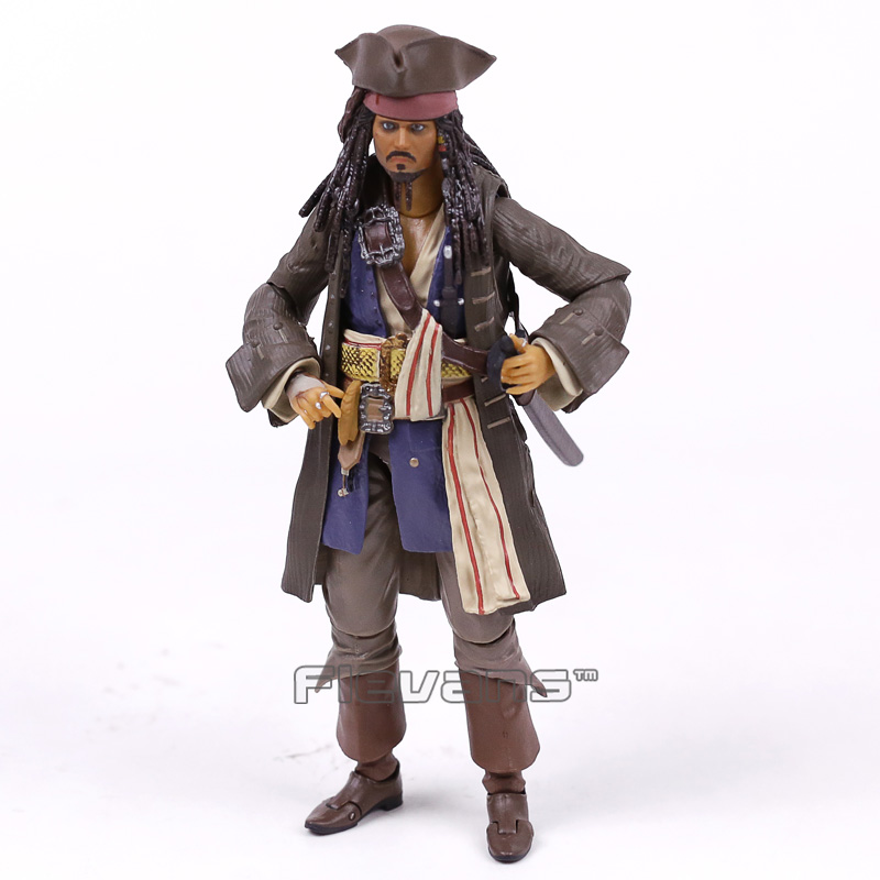 Pirates Of The Caribbean Captain Jack Sparrow PVC Action Figure Collectible Model Toy With Retail Box
