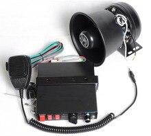 200W Car Alarm Siren 7 Tone Loudspeaker Horn with Round Iron Speaker Police Horn Megaphone Car Styling Buzzer