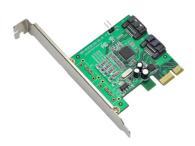Marvell 88SE9120 2 Ports SATA 6G PCI Express Controller Card PCI e to SATA III 3