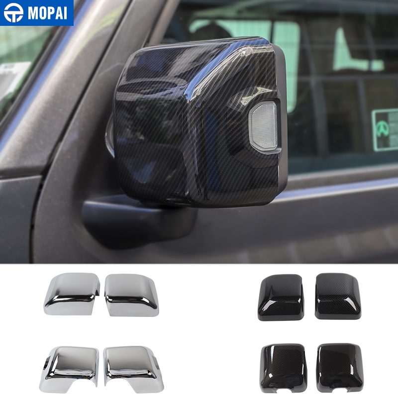MOPAI Car Mirror & Covers for Jeep Wrangler JL 2018 Rearview Mirror Cover Shell Stickers for Jeep JL Wrangler Accessories-in Mirror & Covers from Automobiles & Motorcycles