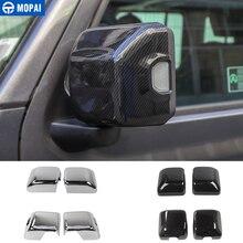 Mopai espelho capas para jeep gladiador jt 2018 + espelho retrovisor do carro capa escudo adesivo acessórios para jeep wrangler jl 2018