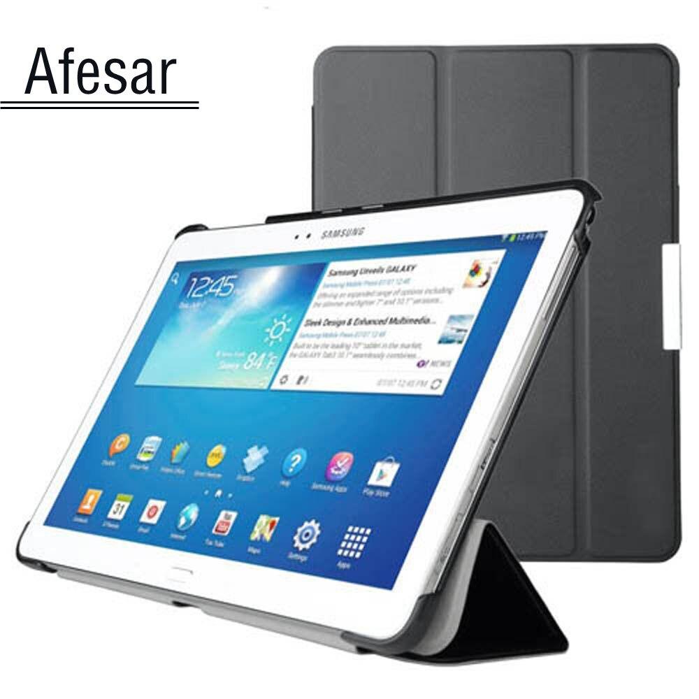 Housse pour Samsung Galaxy Tab Pro 10.1 SM-T520 T525 T521 etui intelligent-UltraSlim support livre housse pour SM P600 P601 P605