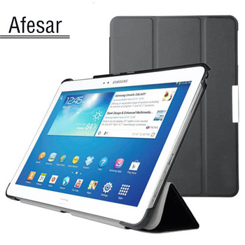Cover voor samsung galaxy tab pro 10.1 sm-t520 t525 t521 smart case-ultraslim stand book cover case voor sm p600 p601 P605