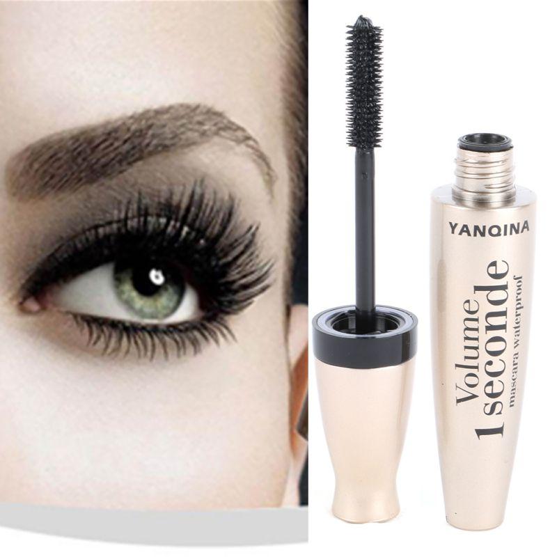 3D Fiber Mascara Long Eyelash Silicone Brush Curving Lengthening Mascara Waterproof Makeup eye Cosmetic