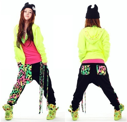 Stock Clear Quality Fashion Harem Pants Women Hip Hop Pants Street Dance Wear Winter Spring Loose Patchwork Terry Sweatpants