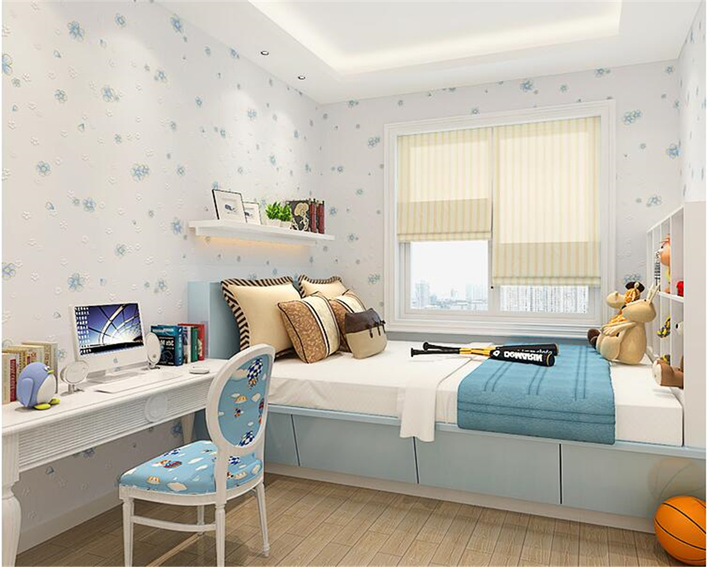 Beibehang d clear d behang pastorale warme non woven slaapkamer
