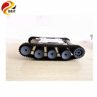 DOIT Tank Car Chassis Crawler Intelligent DIY Robot Electronic Toy ,Solid Structure Tracked Chassis Development Kit Tractor Toy