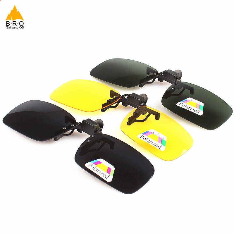 0e3c6c18a8 Cycling Clip on glasses Super Light Polarized Sunglasses Clip on Yellow Night  Vision Glasses Bicycle bike