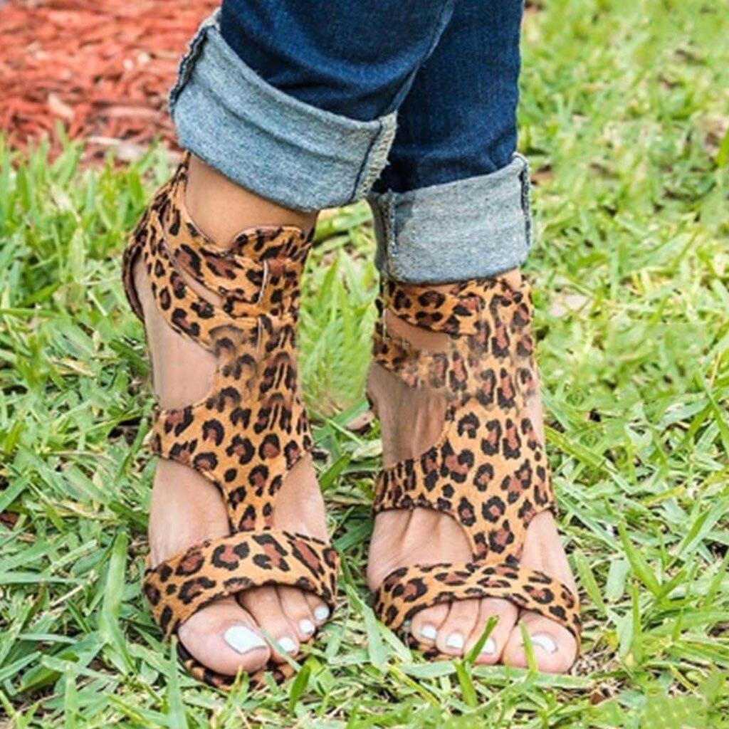 2019 Neuer Stil Youyedian Gladiator Frauen Sandalen 2019 Sommer Keile Leopard Sandalen Frauen Römischen Frauen Casual Schuhe Alias Mujer Klar Und Unverwechselbar