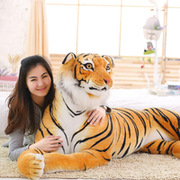90 cm Tiger Plush Toys Soft Stuffed Animals Simulation White Tiger Doll Sleeping Pillow Children Kids Birthday Gifts