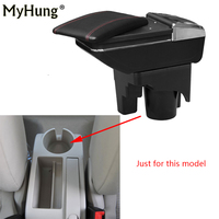 For Volkswagen VW jetta mk5 Golf 6 mk5 6 2005 2011 Car Console Armrest Box Central Storage Box With Cup Holder Ashtray Rotatable