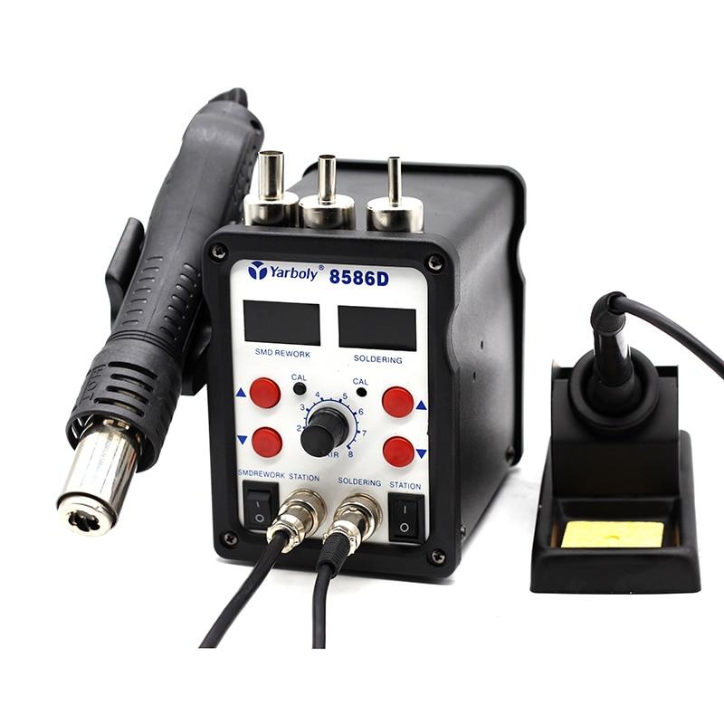 2 in 1 SMD BGA Rework Soldering Station Hot Air Gun Electric Soldering Iron For Welding