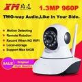 960 P 1.3 M HD Câmera de Visão Noturna IP Wifi Pan Tilt P2P casa de Segurança Monitor Do Bebê Sem Fio Cam Gravador de Áudio Da Câmera de CCTV IR-CUT