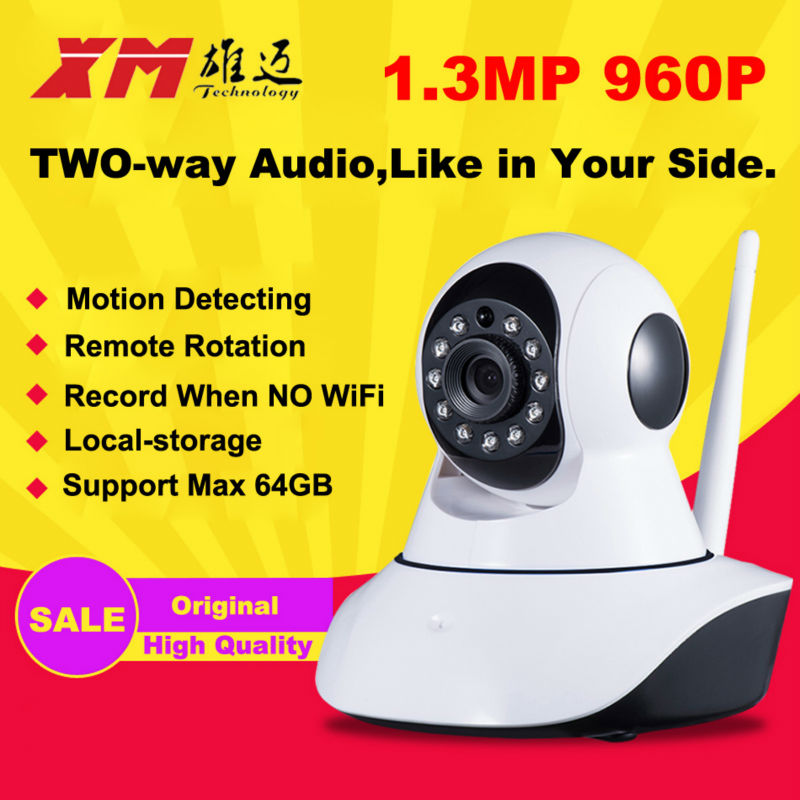 960P 1.3M HD Night Vision IP Wifi Pan Tilt P2P Camera Home Wireless Cam Baby Monitor Security Camera Audio Recorder IR-CUT CCTV 1920 1080p 2 0mp 8gb sd card ip camera wireless wifi cctv camera pan tilt night vision security camera p2p cam with ir cut