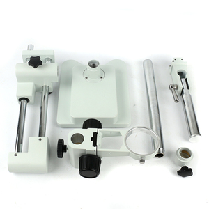 Image 5 - 유니버셜 더블 붐 랩 산업용 줌 Trinocular 스테레오 현미경 스탠드 홀더 브래킷 암 76mm Microscopio 액세서리
