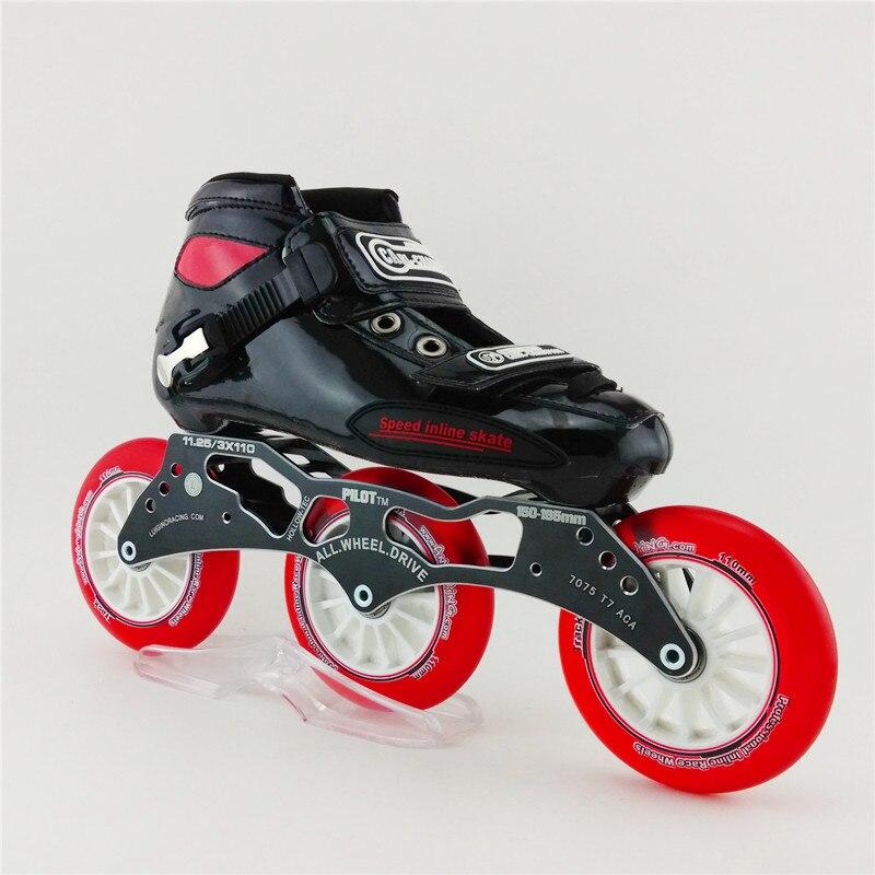 Dewasa Profesional Sepatu Roda Bernapas Lace up Patines Rol Inline Skates  Kecepatan Putaran Kue 3 Roda Inline Skates Sepatu di Sepatu Skate dari  Olahraga ... d4b8fc88e7