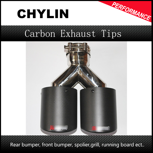 Free Shipping 1 Pcs ID 63mm (2.5) OD 89mm (3.5) dual Stainless Steel Akrapovic Carbon Fiber Car Exhaust Tip car-styling 1pc black stainless steel car exhaust tip id 51mm 54mm 57mm 60mm 63mm od 89mm 101mm akrapovic carbon fiber exhaust tip dual