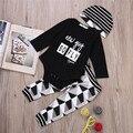 Crianças 3 pcs Clothign Definir Algodão de Manga Comprida Macacão de bebê Meninos Meninas Roupas roupas de bebe infantil trajes