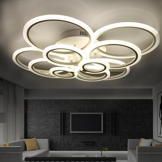 4/6/8/10 anelli remote dimming HA CONDOTTO LA lampada del soffitto soggiorno camera da letto ristorante studio di affari ristorante hotel A Soffitto luci Shop4024011 Store