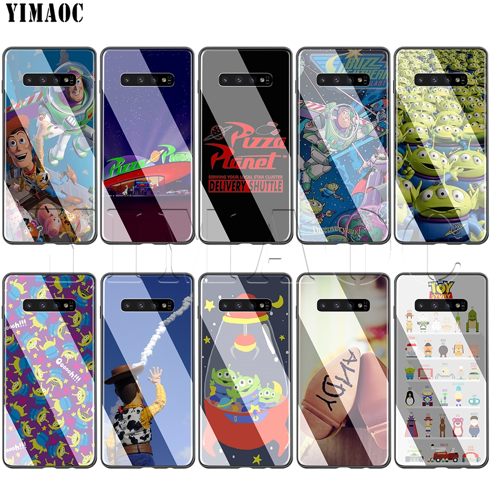 Yimaoc Toy Story Pizza Planet Tempered Glass Tpu Case For Samsung Galaxy S7 S8 S9 S10 Note 8 9 Edge To Help Digest Greasy Food Fitted Cases
