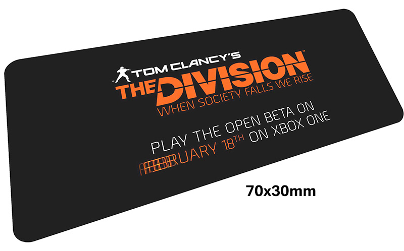 Tom clancys The Division mousepad gamer 700x300X3MM gaming mouse pad big notebook pc accessories laptop padmouse ergonomic mat