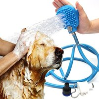 New Arrivals Palm Sized Dog Scrubber And Sprayer Pet Bathing Tool Silicone Hand Massage Glove Dog