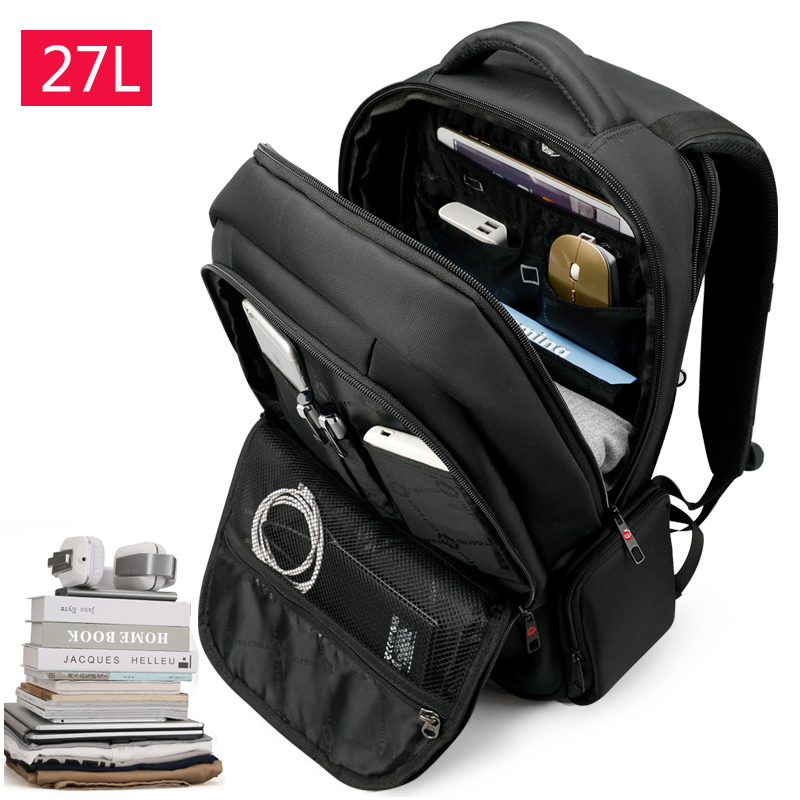Tigernu 15.6 นิ้ว 27L USB Charging ป้องกันการโจรกรรมไนลอนกันน้ำกระเป๋าเดินทางผู้ชายกระเป๋าเป้สะพายหลังกระเป๋า Casual Business กระเป๋าเป้สะพายหลังแล็ปท็อป-ใน กระเป๋าเป้ จาก สัมภาระและกระเป๋า บน   3