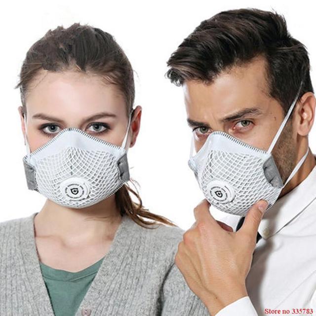 Respirador PM2.5 máscara de Carbón Activado Máscaras Protectoras de polvo anti-formaldehído Anti-niebla y Bruma de Polvo a prueba de-bacterias Pro Máscara