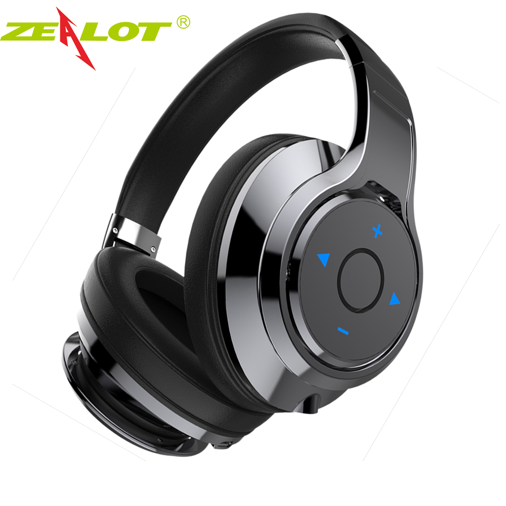 New ZEALOT B22 Wireless Bluetooth Headphones& Wireless Over-Ear Headset With Microphone for Mobile Phone Music earphone magift bluetooth headphones wireless wired headset with microphone for sports mobile phone laptop free russia local delivery hot