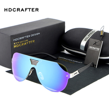 2017  Fashion Modern Design Metal Colorful Oversized Rimless Sunglasses Unisex Cool Polarized Sunglasses Brand Designer