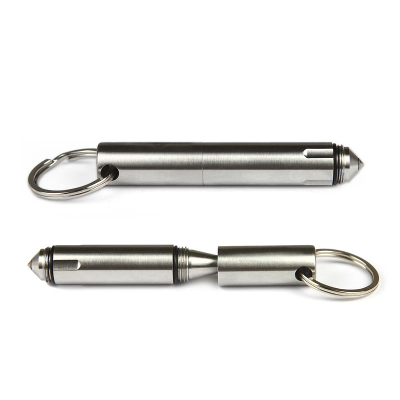 Mini Portable Stainless Steel Tactical Pen Self defense Tool Girls Keychain Pen Survival Supplies  2017 keyring telescoping hot outdoor thick mini retractable pen stainless steel metal ballpoint pen portable note keychain