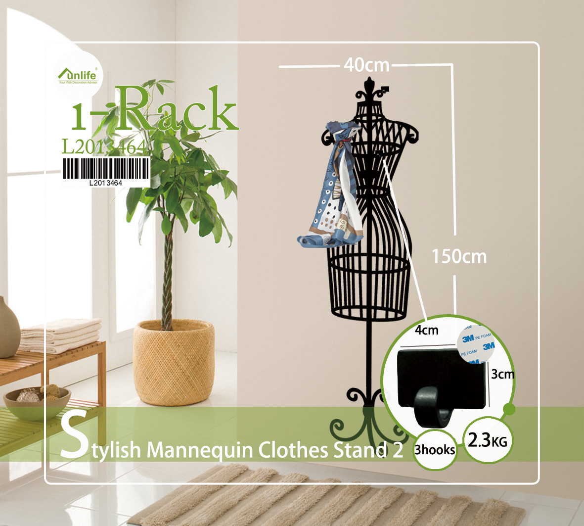 Cloth Stand For Bedroom Creative Decoration creative seamless hooks combination model hanger pattern wall