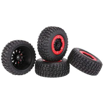 4pcs Rubber Tires Wheels Rim RC Car Replacement Parts Accessories Hardware for 1/10 Traxxas HPI Slash Hobao RC Racing Car Truck