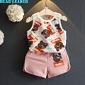 Bear Leader Kids Clothing Sets 2016 Active Style Girls Boys Clothing Sets Little Bear Print Vest+Shorts 2Pcs for Girls Clothes